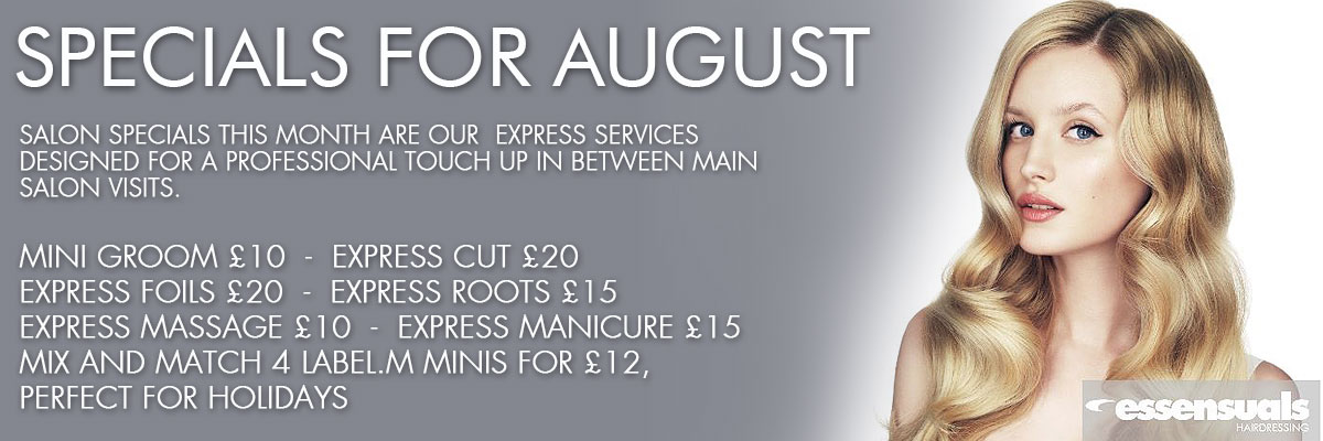 Specials for August 2017